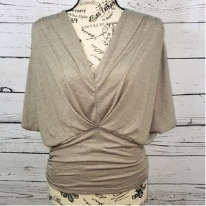 CHARLOTTE RUSSE Angel Wing Draped V-Neck Top